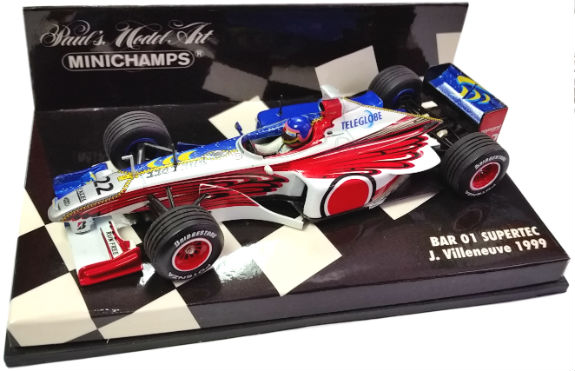 MINICHAMPS 1/43 1999 BAR SUPERTEC 01 JACQUES VILLENEUVE