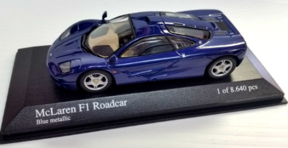 MINICHAMPS 1/43 1993 MCLAREN F1 GTR ROAD CAR METALLIC BLUE
