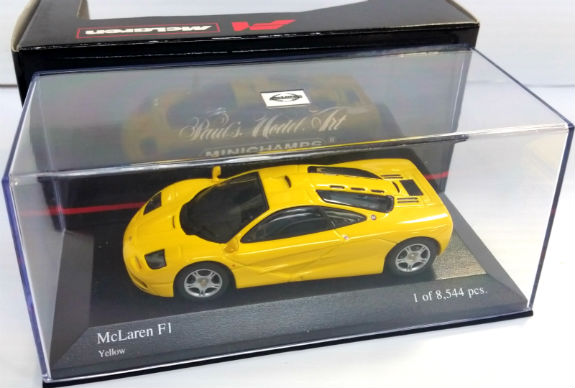 MINICHAMPS 1/43 1993 MCLAREN F1 GTR ROAD CAR YELLOW