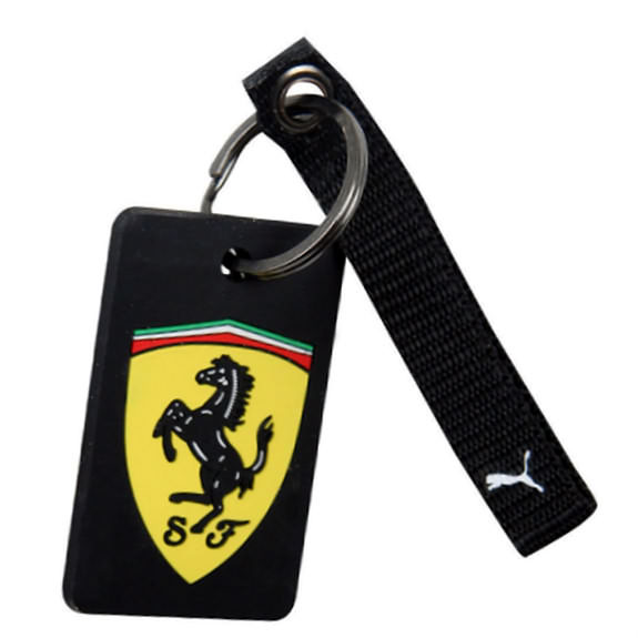 PUMA SCUDERIA FERRARI RUBBER KEY RING - BLACK