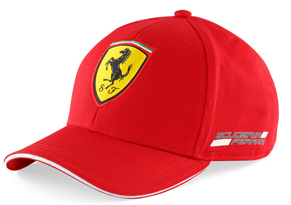 BRANDON 2014 FERRARI SCUDETTO 6 PANEL KIDS CAP - RED