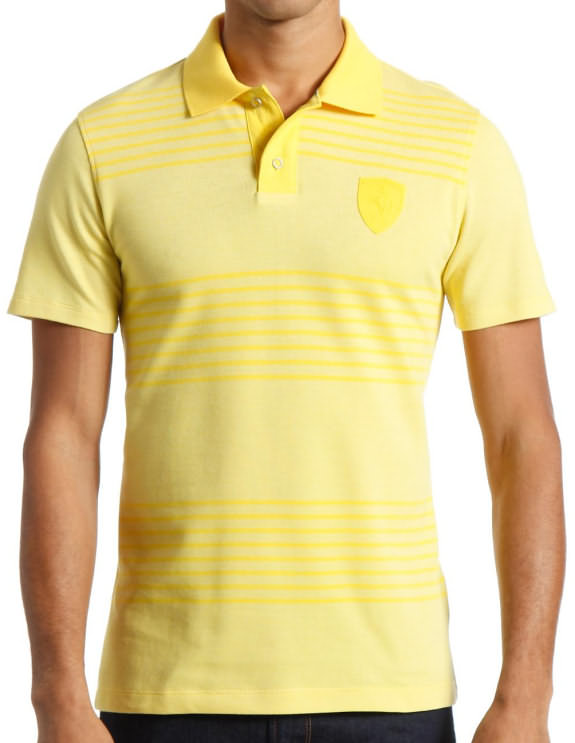 2014 PUMA SCUDERIA FERRARI LIFESTYLE POLO - YELLOW