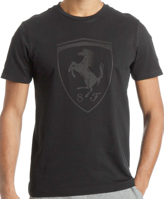 2014 PUMA SCUDERIA FERRARI SHIELD GRAPHIC T-SHIRT- BLACK