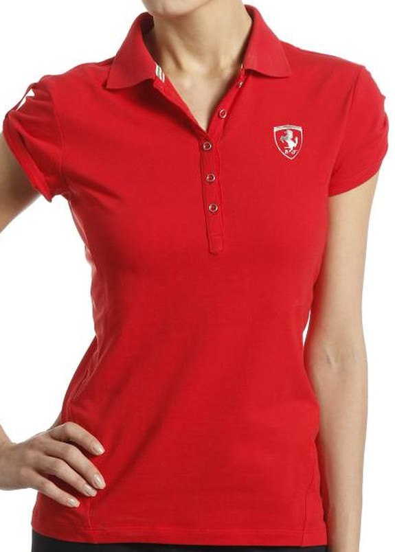 2014 PUMA SCUDERIA FERRARI LADIES POLO - RED
