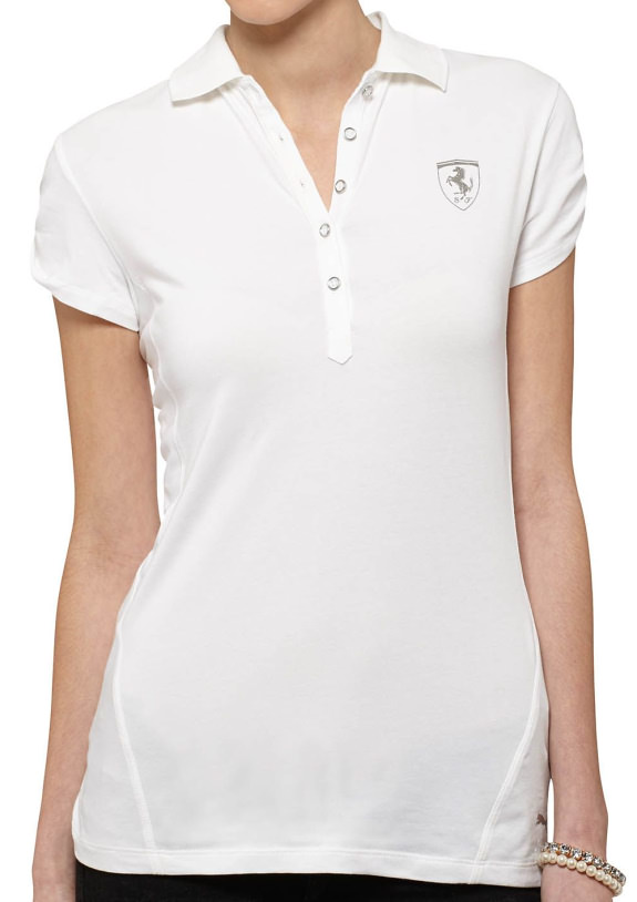 2014 PUMA SCUDERIA FERRARI LADIES POLO - WHITE