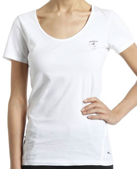 2014 PUMA SCUDERIA FERRARI LADIES T-SHIRT - WHITE