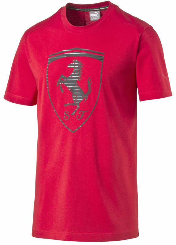 PUMA SCUDERIA FERRARI BIG SHIELD ADULT T-SHIRT- RED