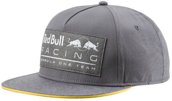 2018 CASQUETTE À VISIÈRE PLATE RED BULL RACING F1 TEAM - GRIS