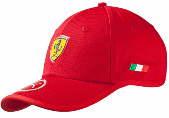 2016 PUMA SCUDERIA FERRARI SHIELD ADULT FLOWBACK CAP - RED