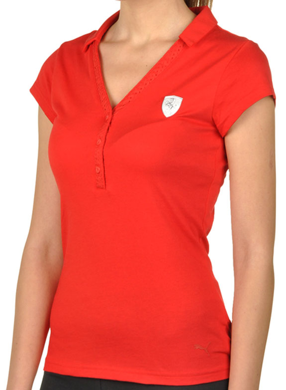 2016 PUMA SCUDERIA FERRARI LADIES BUTTON POLO - RED