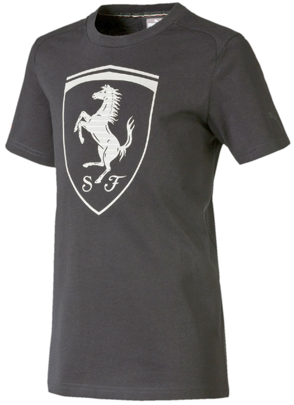 PUMA SCUDERIA FERRARI BIG SHIELD ADULT T-SHIRT- BLACK
