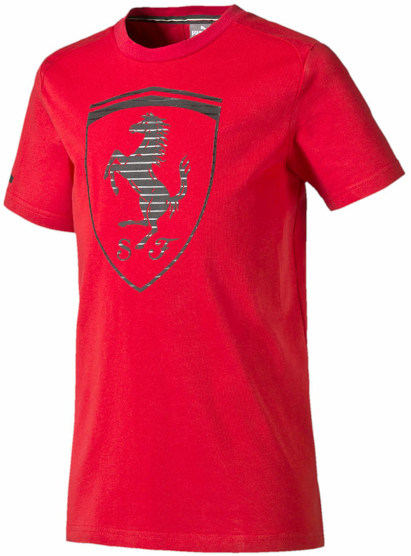 2016 PUMA SCUDERIA FERRARI BIG SHIELD KIDS T-SHIRT- RED