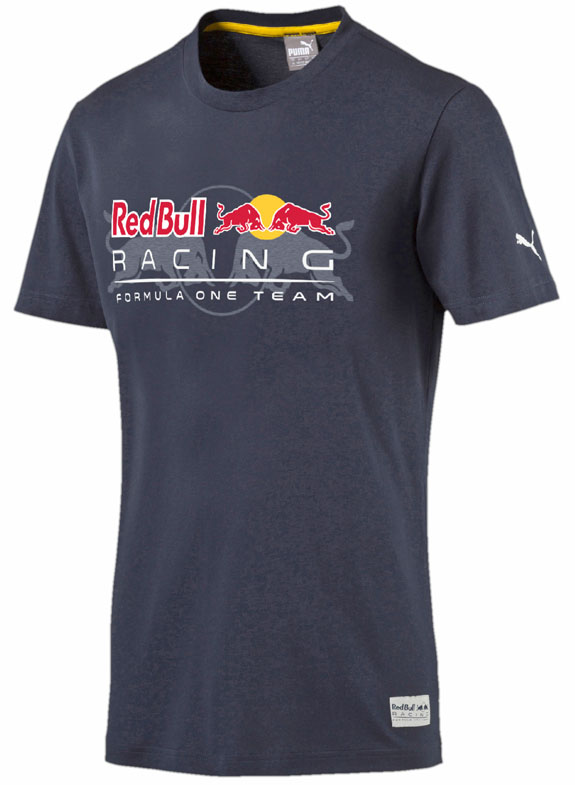2016 PUMA RED BULL RACING F1 TEAM LOGO MENS T-SHIRT - BLUE