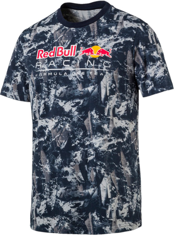 2017 PUMA RED BULL RACING F1 TEAM MENS GRAPHIC T-SHIRT - AOP
