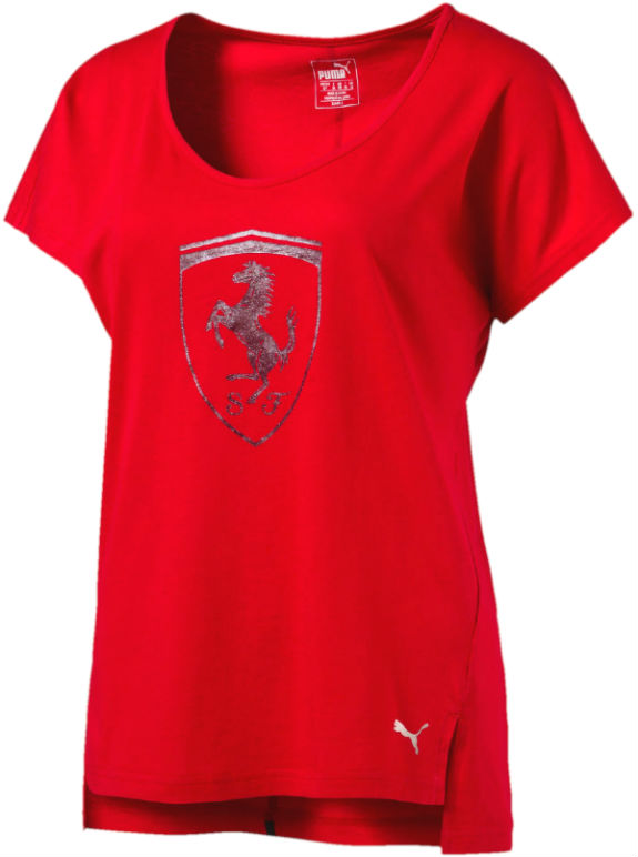 2017 PUMA SCUDERIA FERRARI LADIES T-SHIRT - RED