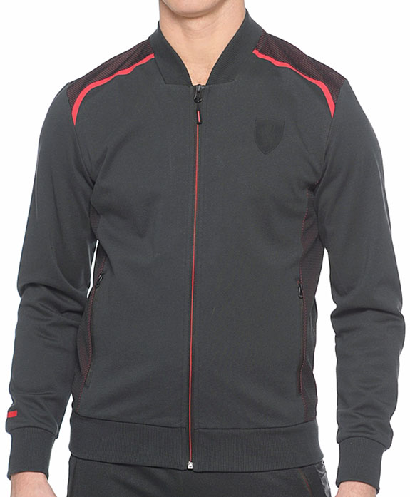 2016 PUMA SCUDERIA FERRARI FULL ZIP SWEAT JACKET - BLACK / RED