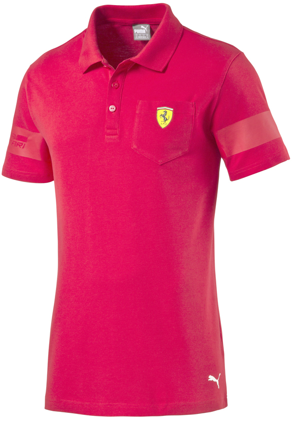 2016 PUMA SCUDERIA FERRARI SHIELD POLO T-SHIRT - RED
