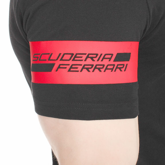 2016 PUMA SCUDERIA FERRARI SHIELD POLO T-SHIRT - BLACK