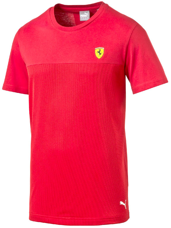 2016 PUMA SCUDERIA FERRARI SMALL SCUDETTO T-SHIRT- RED