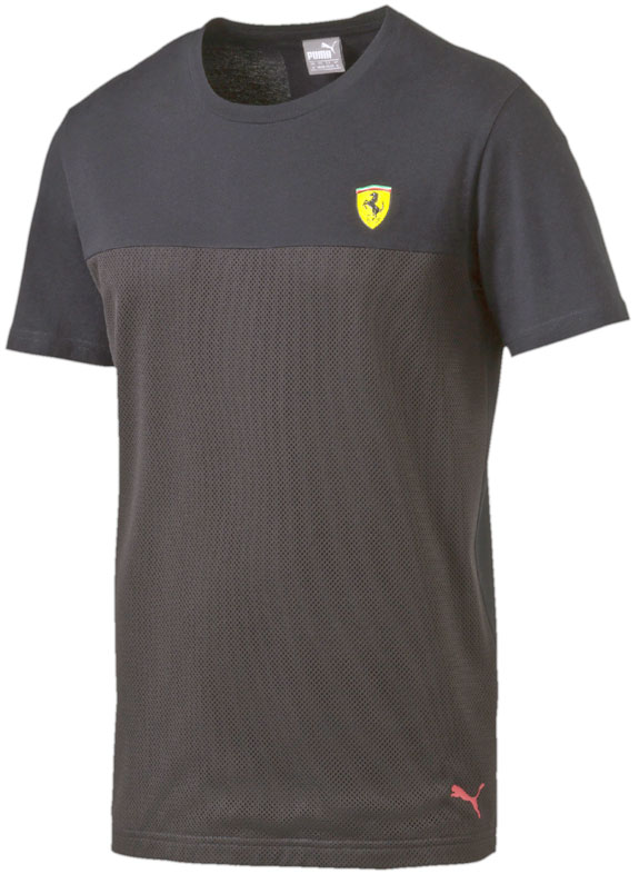 2016 PUMA SCUDERIA FERRARI SMALL SCUDETTO T-SHIRT- BLACK