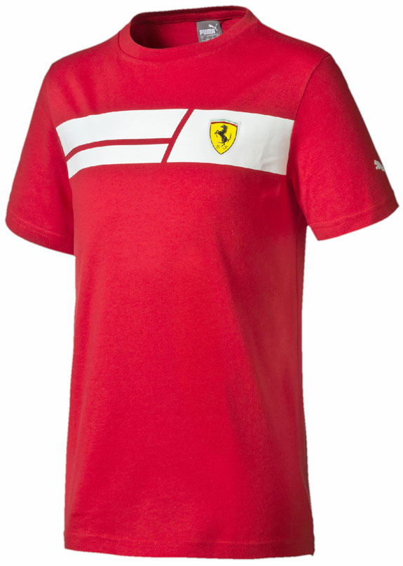 2016 PUMA SCUDERIA FERRARI KIDS SHIELD T-SHIRT- RED