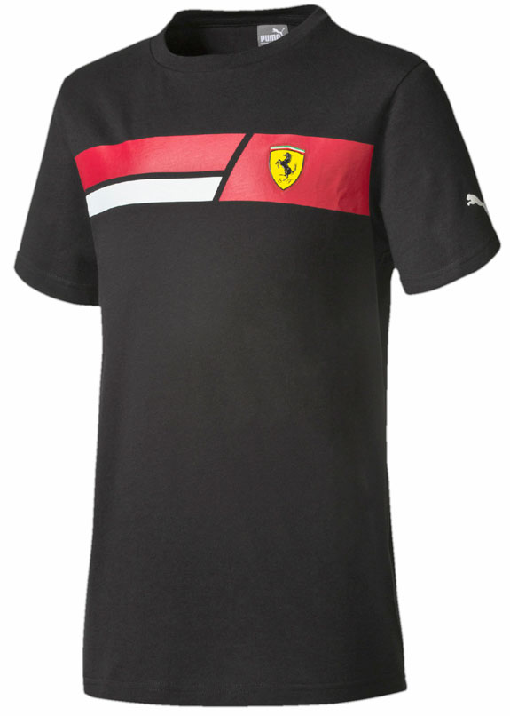 2016 PUMA SCUDERIA FERRARI KIDS SHIELD T-SHIRT- BLACK