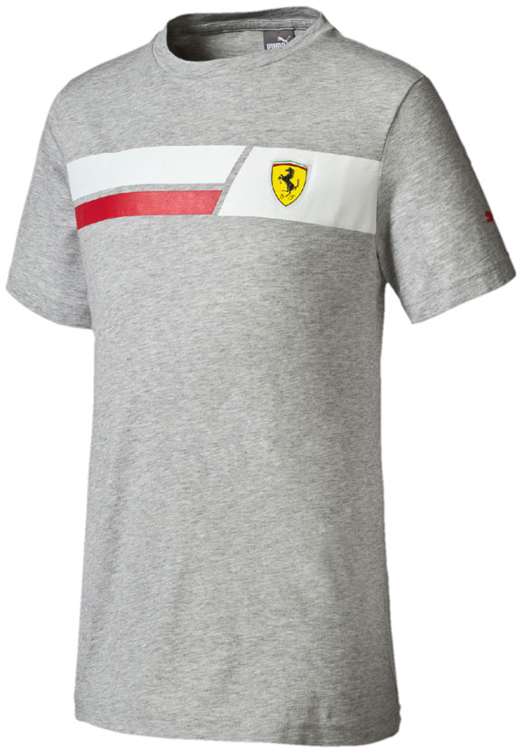 2016 PUMA SCUDERIA FERRARI KIDS SHIELD T-SHIRT- GRAY