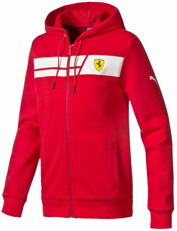 2016 PUMA SCUDERIA FERRARI SHIELD KIDS SWEAT JACKET- RED