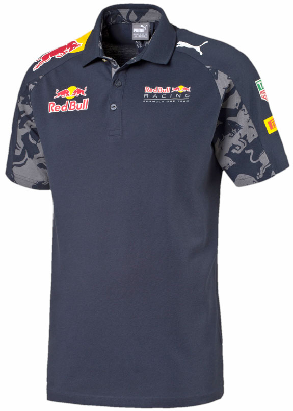 2016 PUMA RED BULL RACING F1 TEAM MENS TEAM POLO - BLUE
