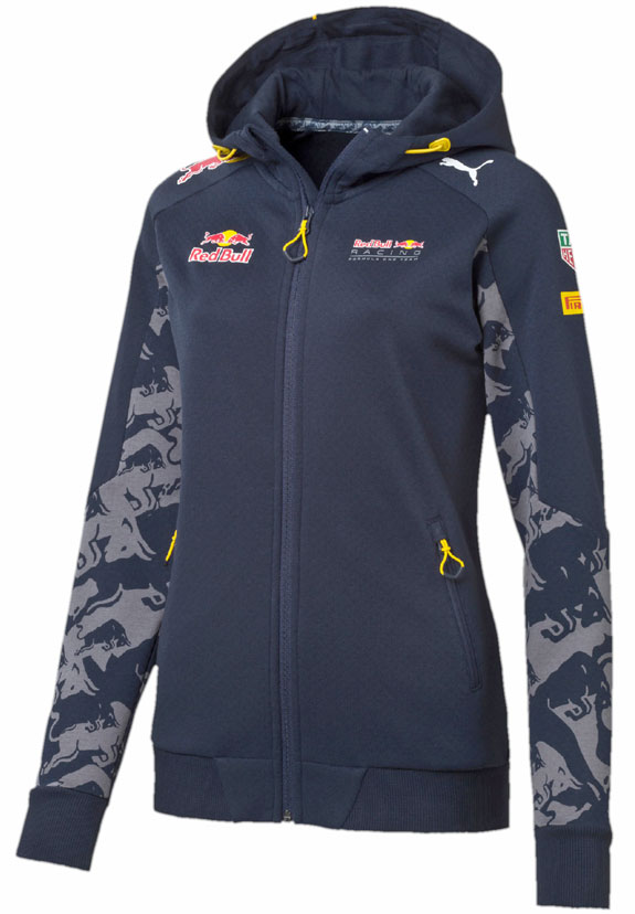 2016 PUMA RED BULL RACING F1 TEAM WOMEN HOODED SWEAT JACKET