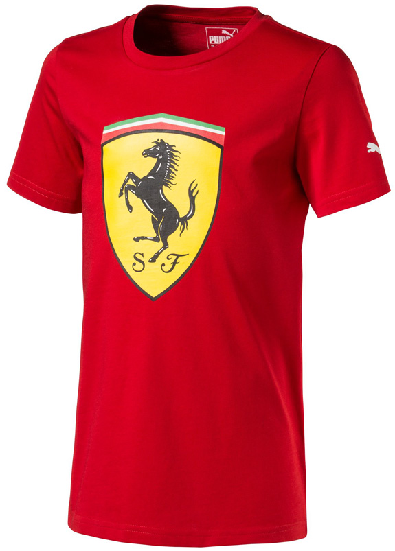 PUMA SCUDERIA FERRARI 2017 LARGE SHEILD KIDS RED T-SHIRT