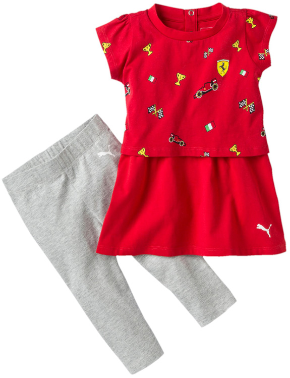 PUMA SCUDERIA FERRARI 2017 BABY GIRLS DRESS SET