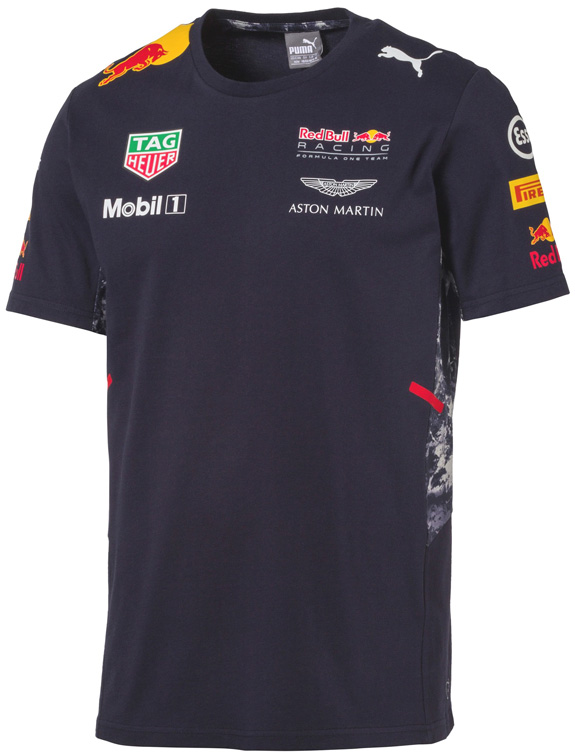 T-SHIRT EQUIPE 2017 PUMA RED BULL RACING F1 TEAM - HOMME