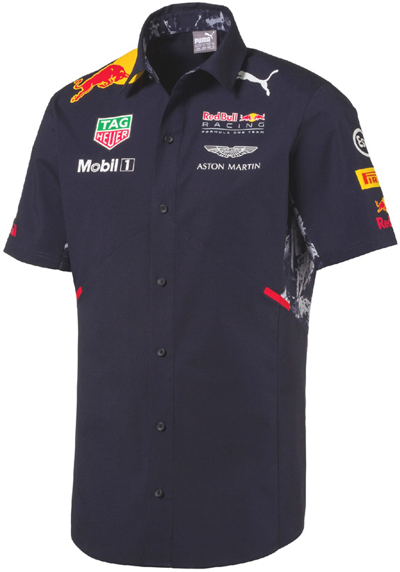 CHEMISE EQUIPE 2017 PUMA RED BULL RACING F1 TEAM - HOMME