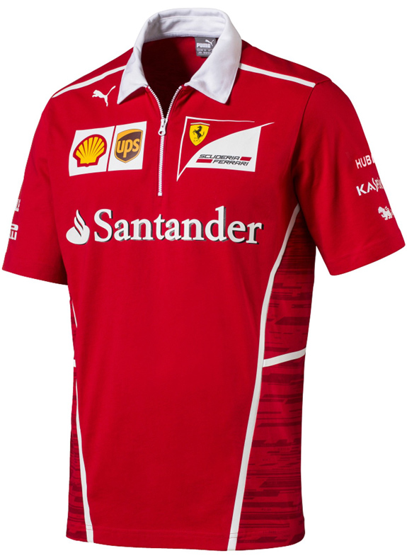 PUMA SCUDERIA FERRARI 2017 TEAM POLO T-SHIRT - ADULT
