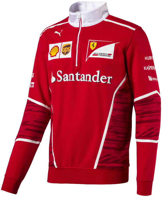2017 PUMA SCUDERIA FERRARI TEAM 1/4 ZIP FLEECE