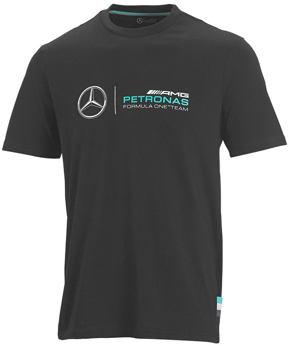 2015 MERCEDES AMG PETRONAS MENS LOGO T-SHIRT - BLACK