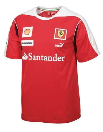 2010 FERRARI TEAM T-SHIRT - RED