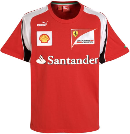 2011 PUMA FERRARI TEAM T-SHIRT - RED