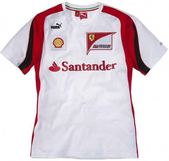 2011 PUMA FERRARI TEAM T-SHIRT - WHITE