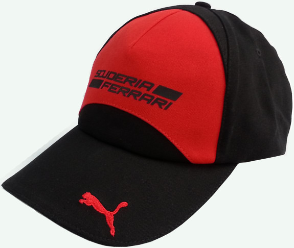 PUMA FERRARI SCUDERIA FERRARI TEAM CAP - BLACK / RED