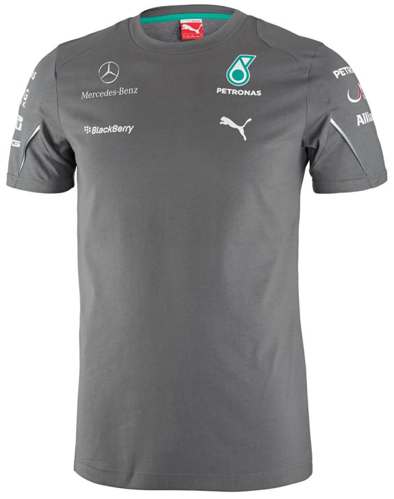 PUMA MERCEDES AMG PETRONAS 2014 TEAM T-SHIRT- GREY