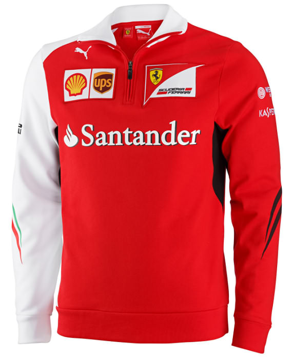 2014 PUMA SCUDERIA FERRARI TEAM ZIP FLEECE - RED / WHITE