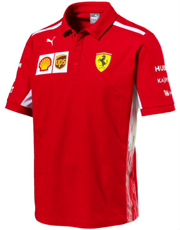 PUMA SCUDERIA FERRARI 2018 TEAM POLO T-SHIRT - ADULT