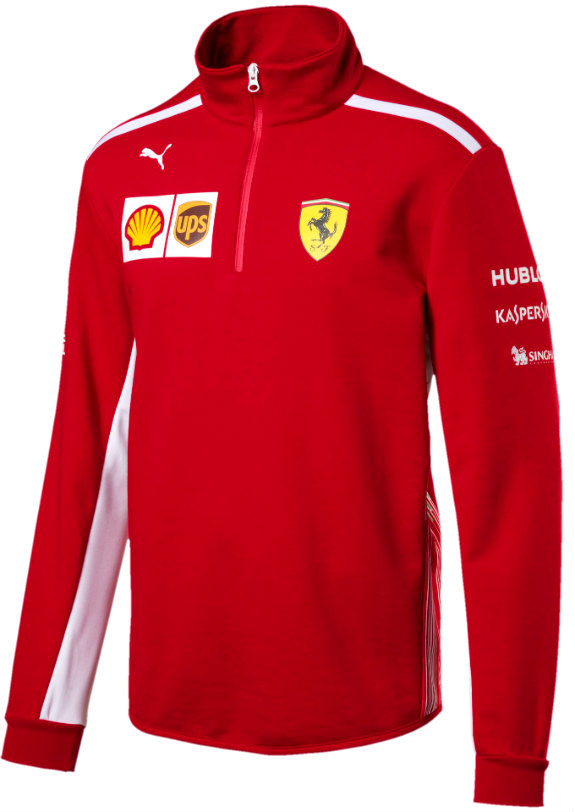 PUMA SCUDERIA FERRARI 2018 TEAM 1/4 ZIP FLEECE