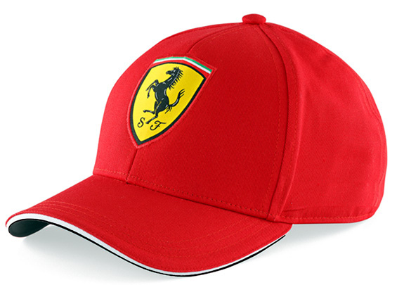 BRANDON 2014 FERRARI SCUDETTO 6 PANEL CLASSIC ADULT CAP - RED