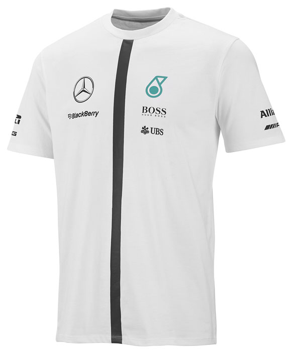 2015 MERCEDES AMG PETRONAS MENS TEAM T-SHIRT - WHITE