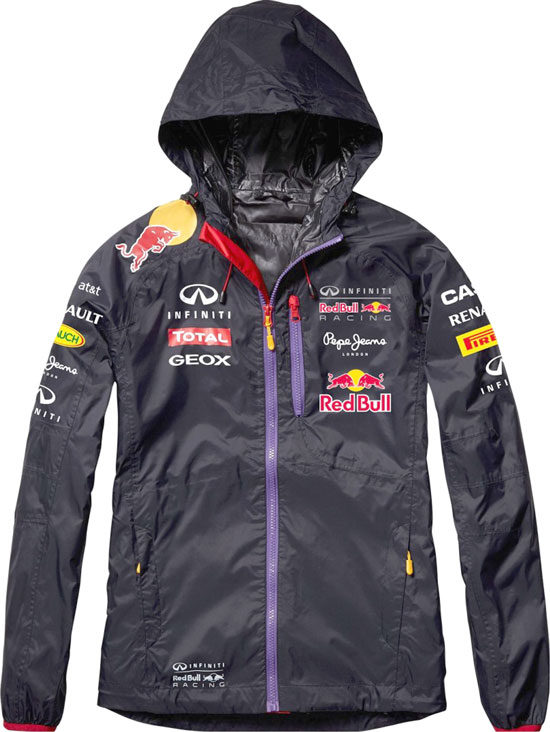 2014 INFINITI RED BULL RACING F1 TEAM WOMEN HOODED RAIN JACKET