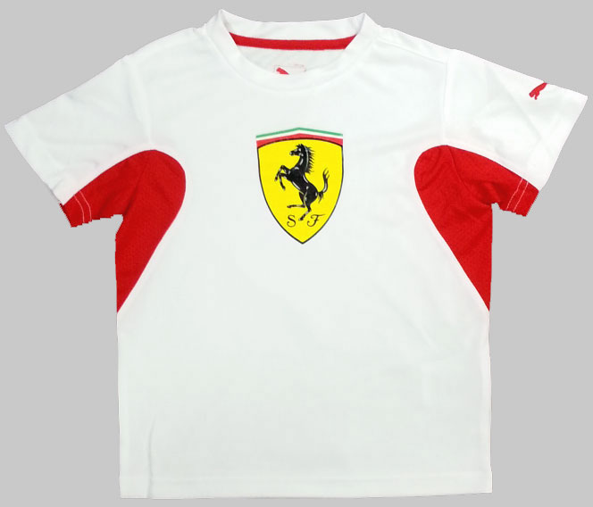 PUMA SCUDERIA FERRARI JUNIOR PERFORMANCE TEE - WHITE
