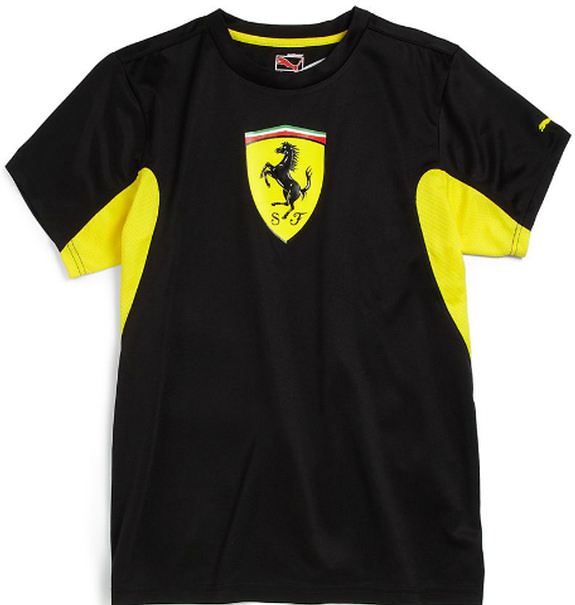 PUMA SCUDERIA FERRARI KIDS PERFORMANCE TEE - BLACK